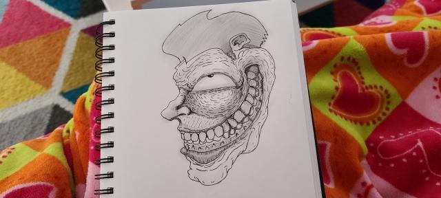 Spooky grinner